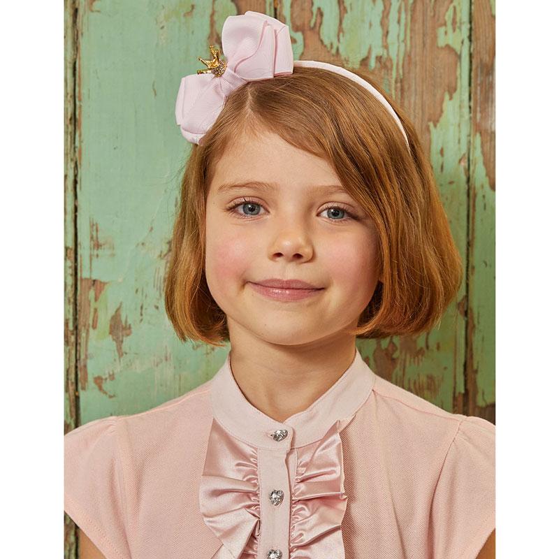 Детска диадема Angels face с панделка и коронка