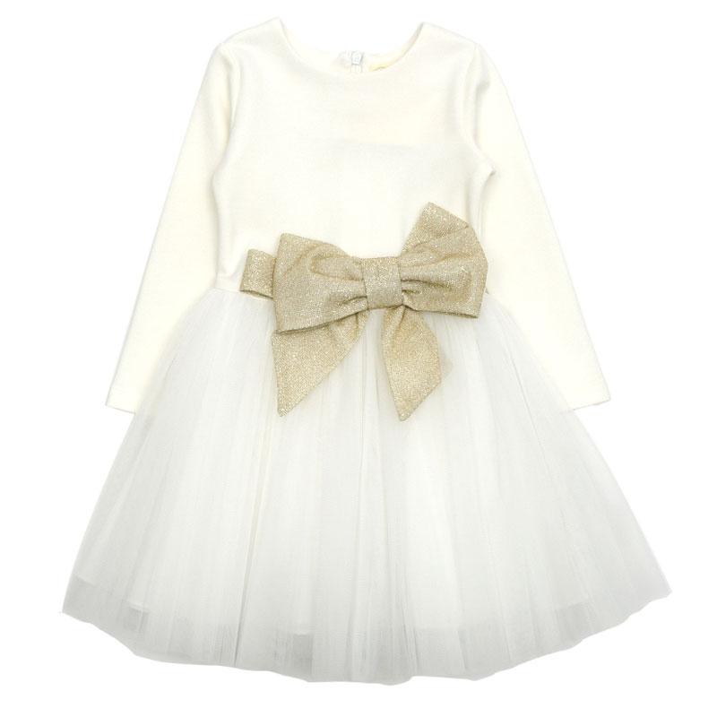 Детска рокля Contrast с панделка