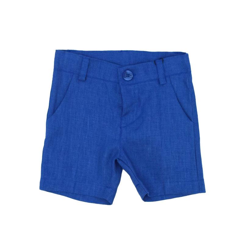 Бебешки ленен къс панталон Contrast