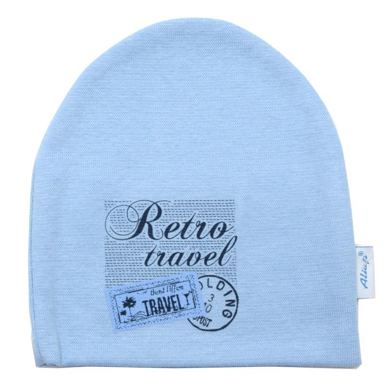 """Бебешка трикотажна шапка """"Retro Travel"""" за момче"""