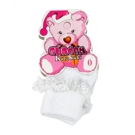 бебешки чорапи с дантела