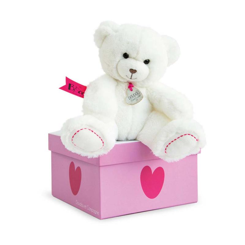 Бебешка плюшена играчка бяло мече UNICEF Doudou et Compagnie