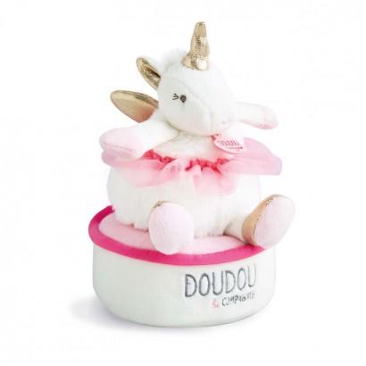 Музикална играчка въртящ се еднорог Doudou et  Compagnie