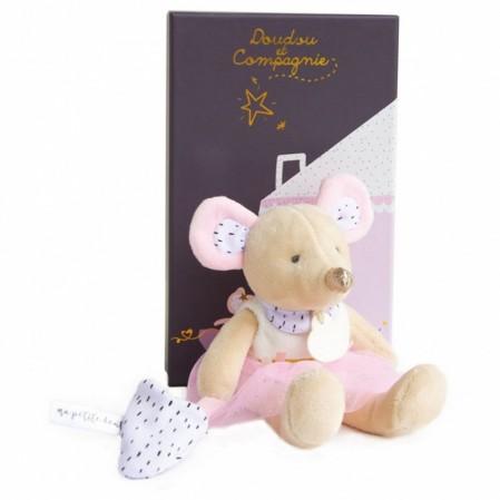 Детска мека играчка Doudou Мишка Suzie 19см