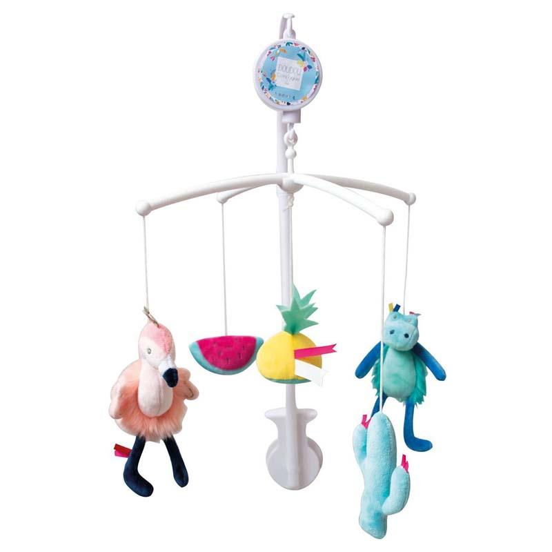 Детска музикална играчка за легло Doudou Тропик
