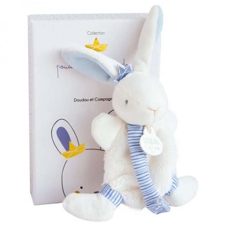 Бебешка играчка Заек Doudou Моряк с велкро за залъгалка