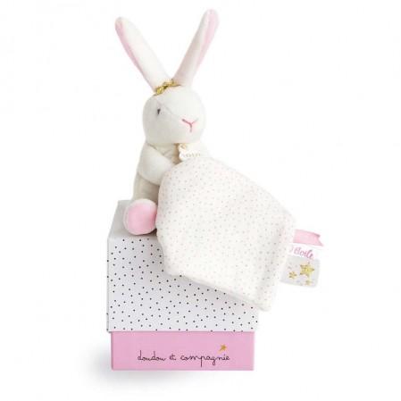 Бебешка играчка Doudou Звезден Заек с одеяло