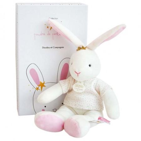 Бебешка играчка Doudou Розов Звезден Заек