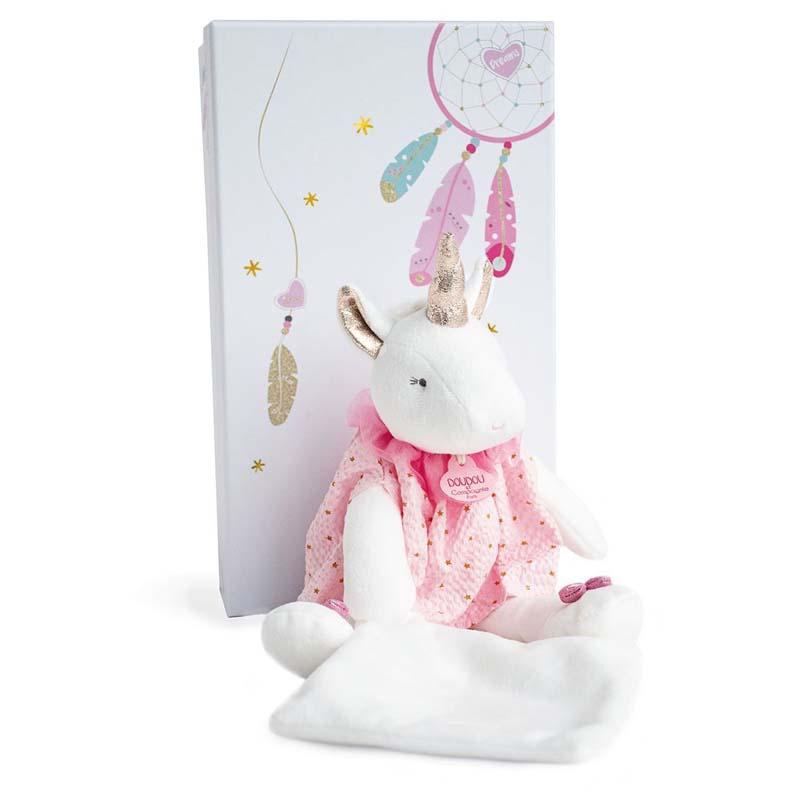 Бебешка играчка за гушкане Doudou Еднорог