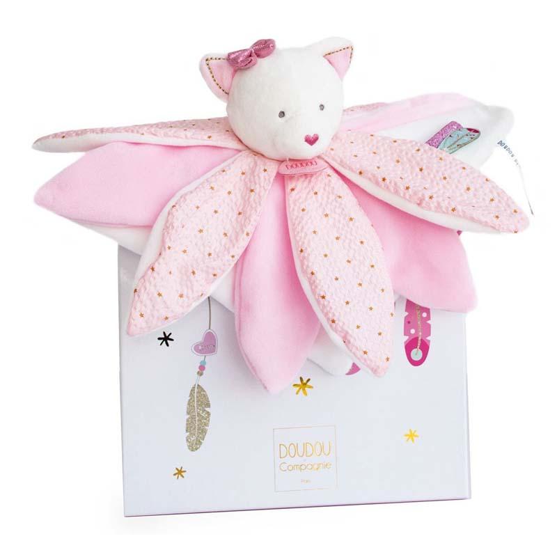 Бебешка играчка Doudou Коте с одеяло