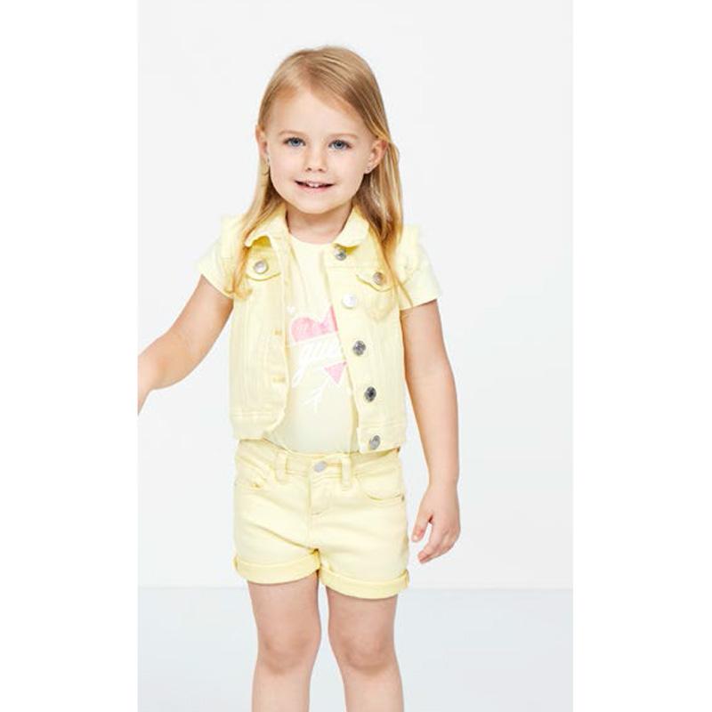 Детски елек Guess за момиче с копчета