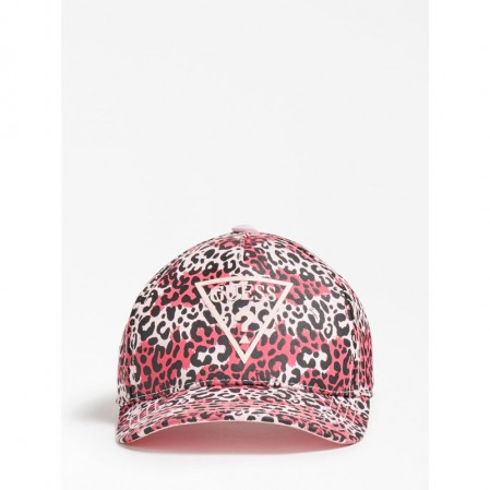 Детска шапка Guess с козирка и принт за момиче