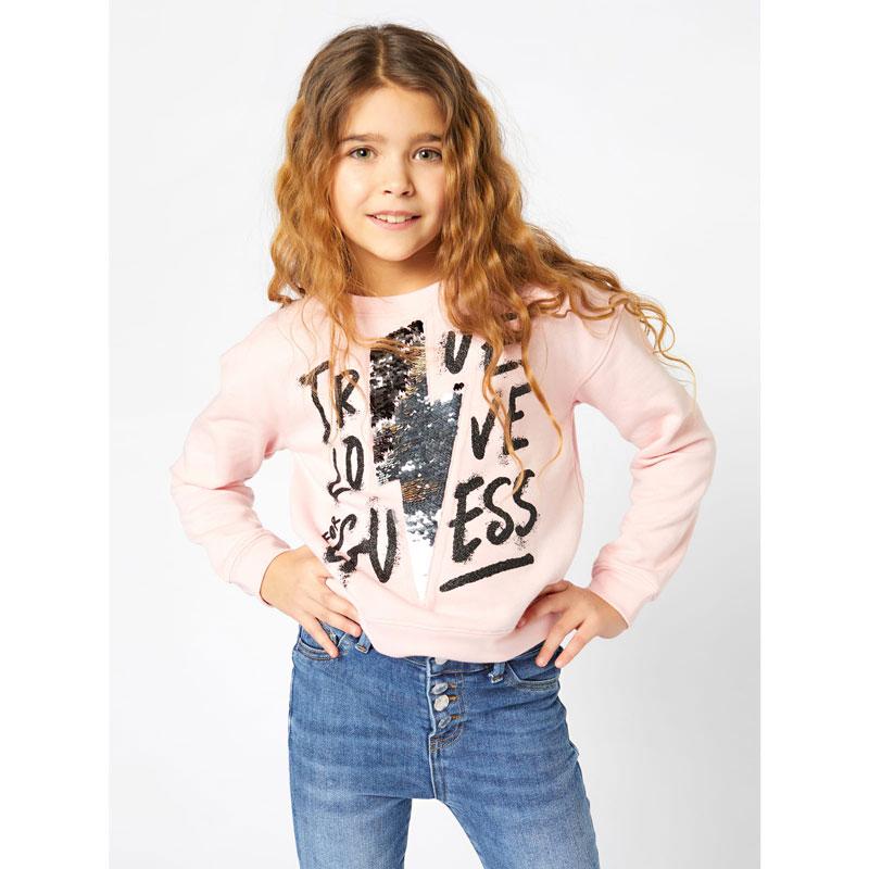 Детска блуза Guess за момиче с апликация