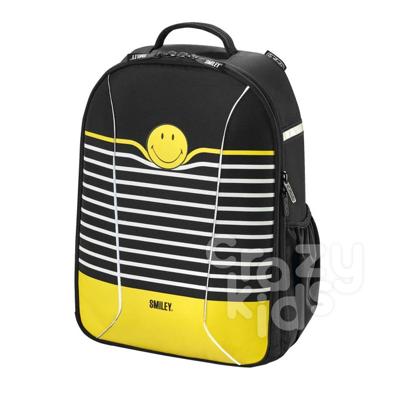 Herlitz Ученическа раница be-bag airgo Smiley World Stripes