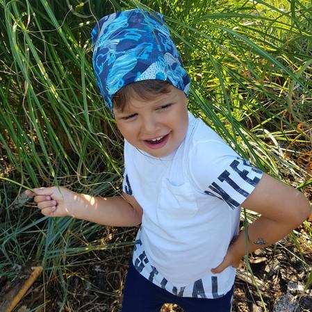 Детска шапка Jamiks Elias с принт за момче