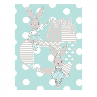 Одеяло Rabbits Blue