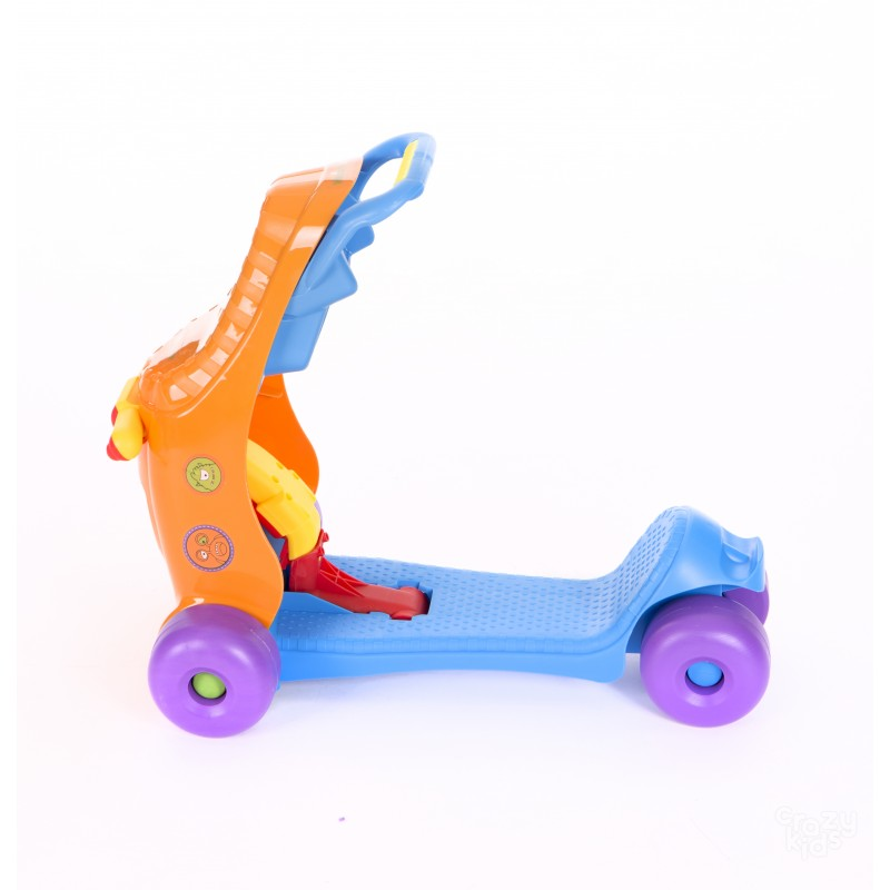 Количка яздене Kikka Boo Ride-on 3 in 1 Blue/Orange