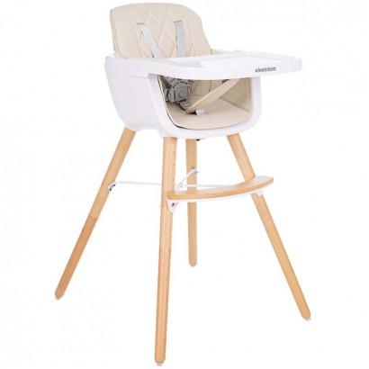 Kikkaboo Дървен стол за хранене Woody Beige