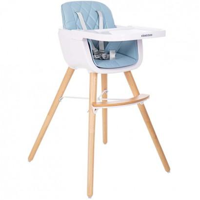 Kikkaboo Дървен стол за хранене Woody Blue