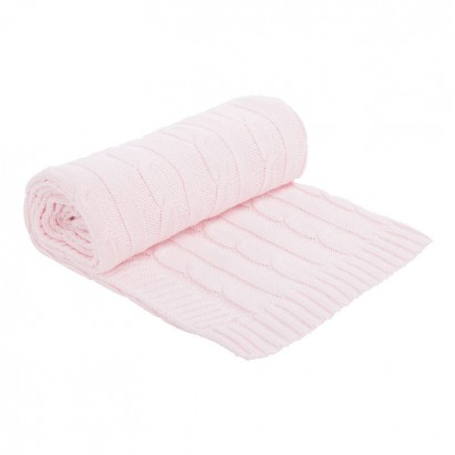 Kikkaboo Плетено памучно одеяло Light Pink