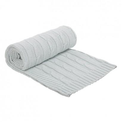 Kikkaboo Плетено памучно одеяло Mint