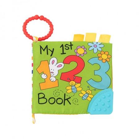 Kikkaboo Образователна текстилна книжка с чесалка 123