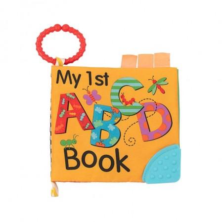 Kikkaboo Образователна текстилна книжка с чесалка ABC