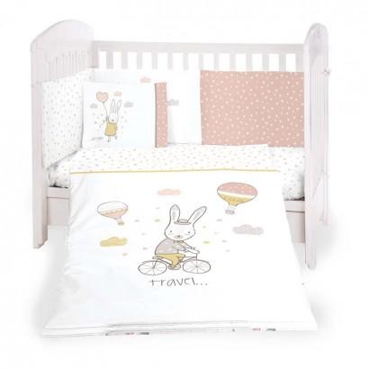 Kikkaboo Бебешки спален комплект 6 части 60 х 120 Rabbits in Love