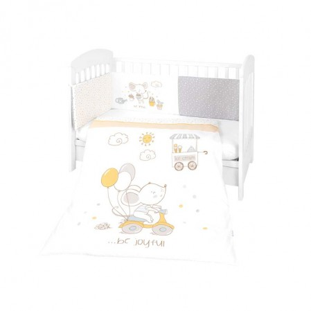 Kikkaboo Бебешки спален комплект 2 части EU style 70 х 140 Joyful Mice