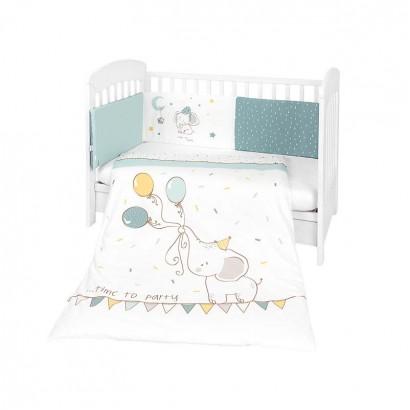 Kikkaboo Бебешки спален комплект 2 части EU style 70 х 140 Elephant Time