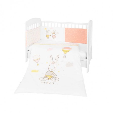 Kikkaboo Бебешки спален комплект 2 части EU style 60 х 120 Rabbits in Love