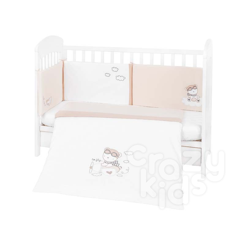 Kikka boo Бебешки спален комплект 2 части EU style 70х140 с бродерия Dreamy Flight