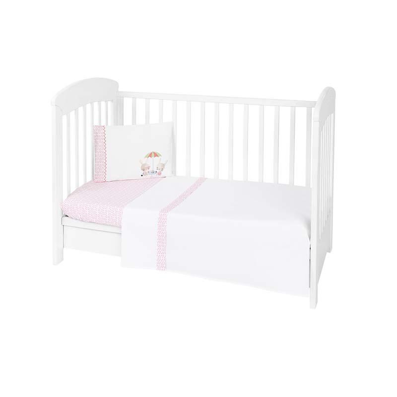 Kikkaboo Бебешки спален комплект 3 части EU Style 70 х 140 Day in Paris