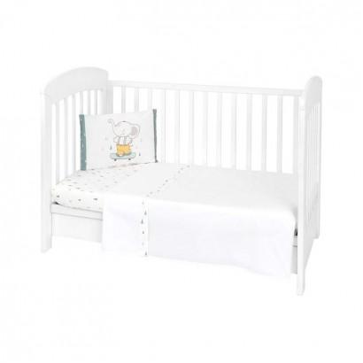 Kikkaboo Бебешки спален комплект 3 части EU Style 70 х 140 Elephant Time