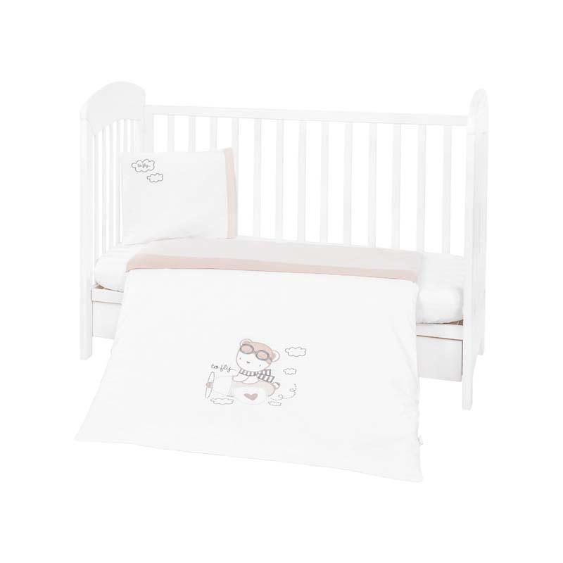 Kikka boo Бебешки спален комплект 3 части с бродерия Dreamy Flight