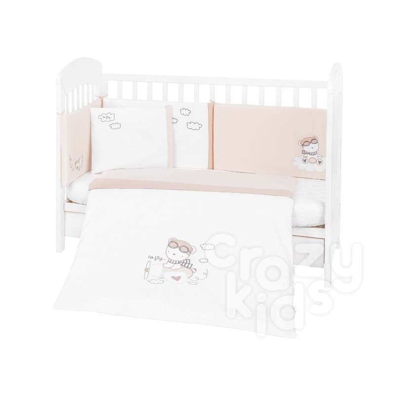 Kikka boo Бебешки спален комплект 6 части 70х140 с бродерия Dreamy Flight