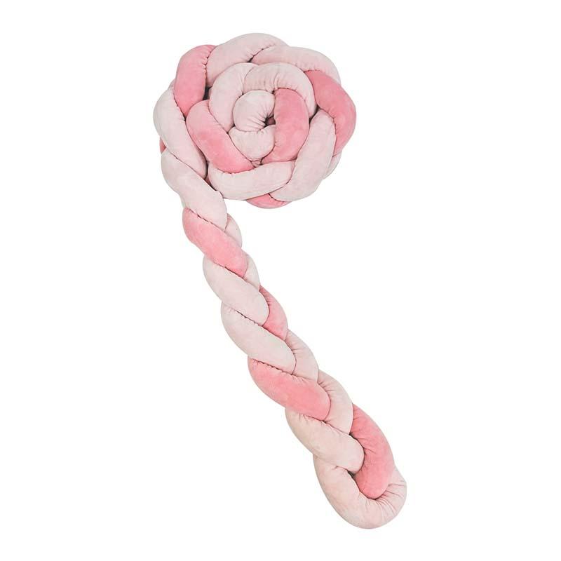 Kikka boo Плетен плюшен обиколник 180 см Pink