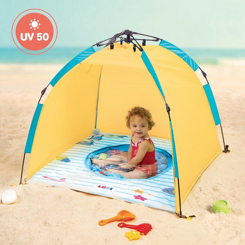 Ludi Бебешки басейн с палатка 2 seconds