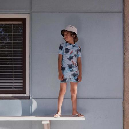 Детски плажни бермуди Molo за момче с принт