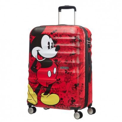 Samsonite Спинер на 4 колела Wavebreaker Mickey Comics Red АТ 67 см