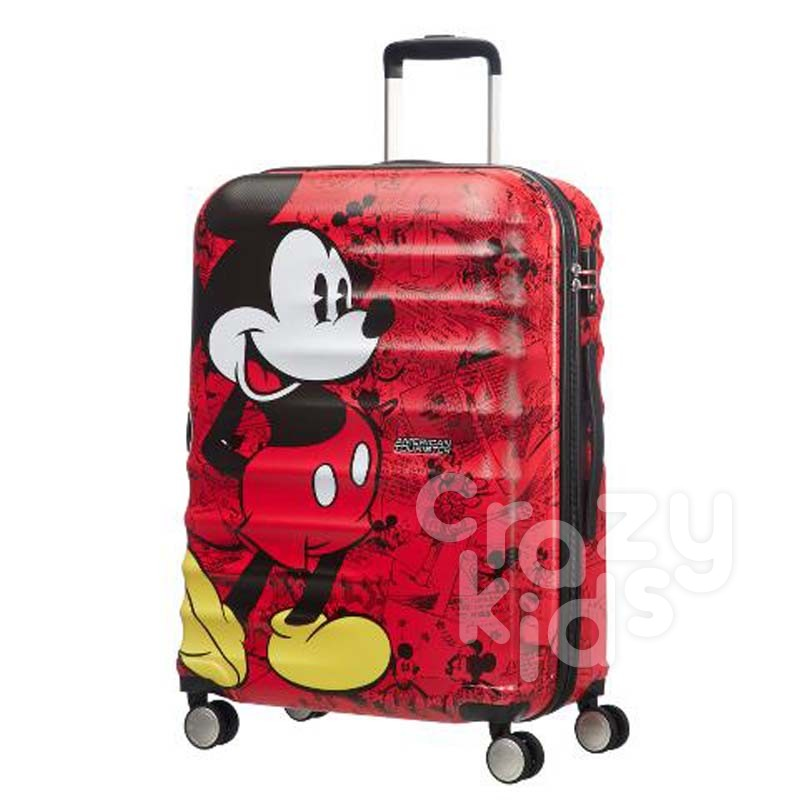 Samsonite Спинер на 4 колела Wavebreaker Mickey Comics Red АТ 77 см