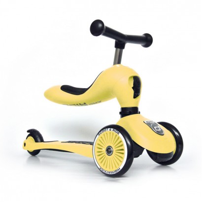 Детска тротинетка Scoot and Ride Highwaykick1  2 в 1  Скутер и колело за баланс  Лимон