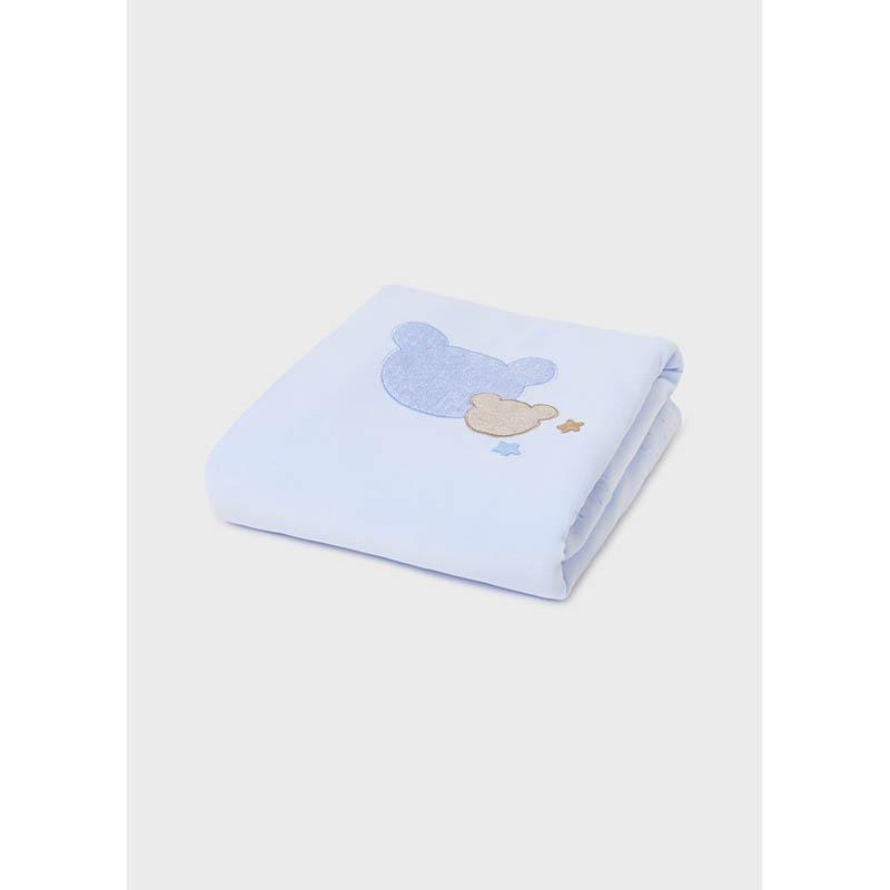 Нежно бебешко одеяло Mayoral с бродерия