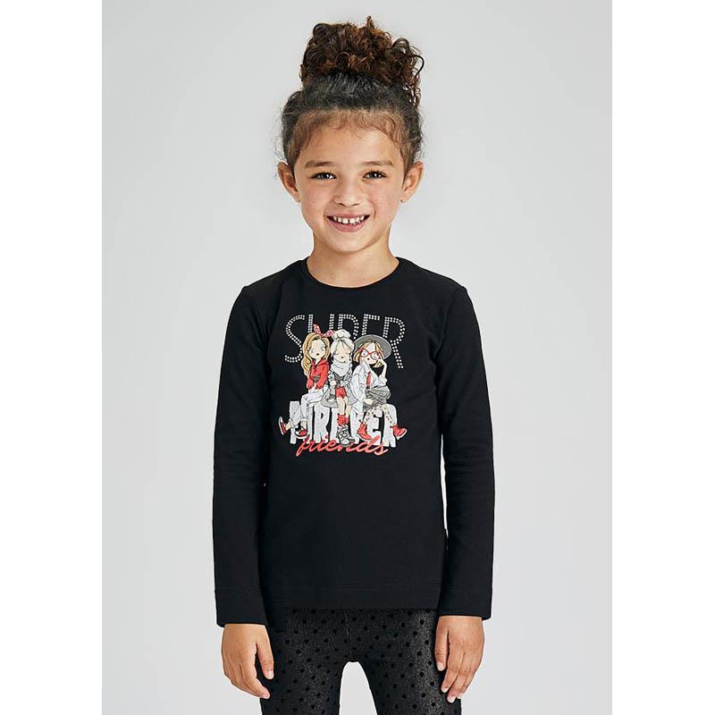 Детска блуза Mayoral с принт и надписи за момиче