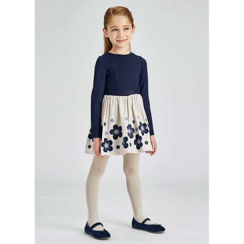 Флорална детска рокля Mayoral с бродерия за момиче