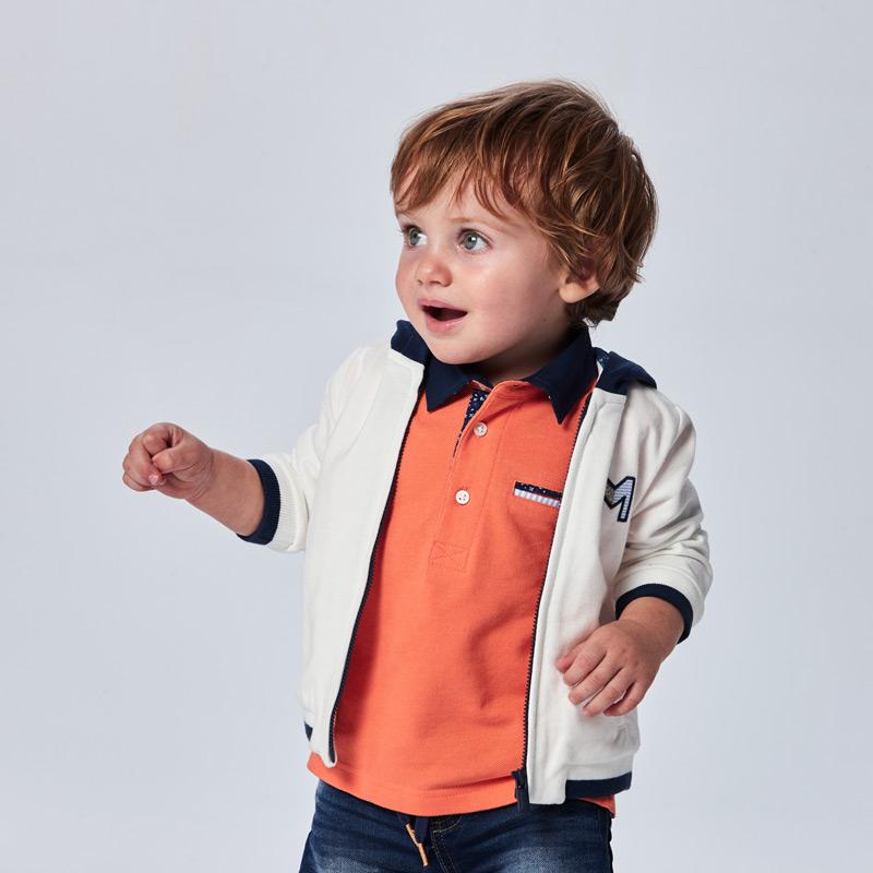 Ефектна бебешка поло блуза Mayoral