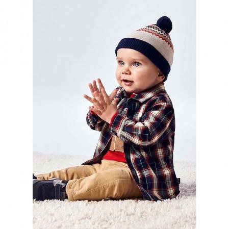 Карирана бебешка риза за момче Mayoral