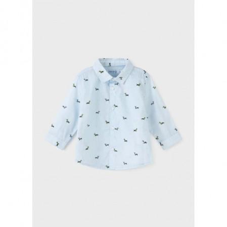 Бебешка риза Mayoral Ecofriends с принт за момче