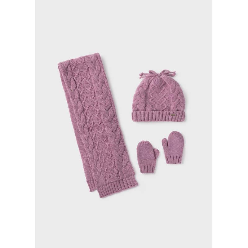 Бебешки комплект от шапка и шал Mayoral за момиче