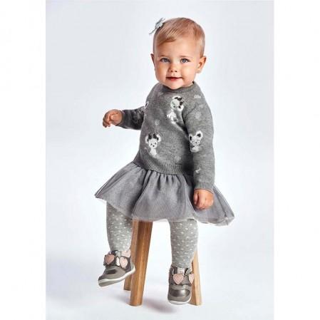 Бебешки пуловер-рокля Mayoral с тюл